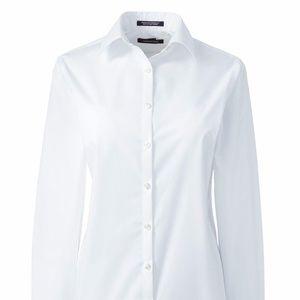 NEW! Lands End Long Sleeve Broadcloth Work Shirt